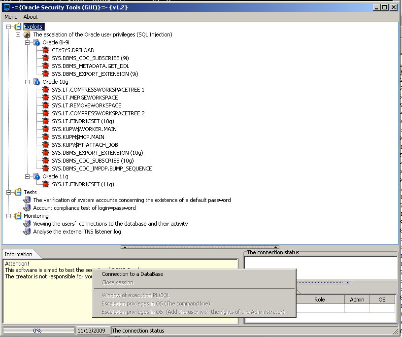 Oracle Security Tools