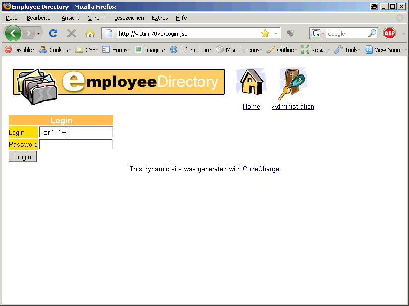 Oracle SQL Injection Picture 5