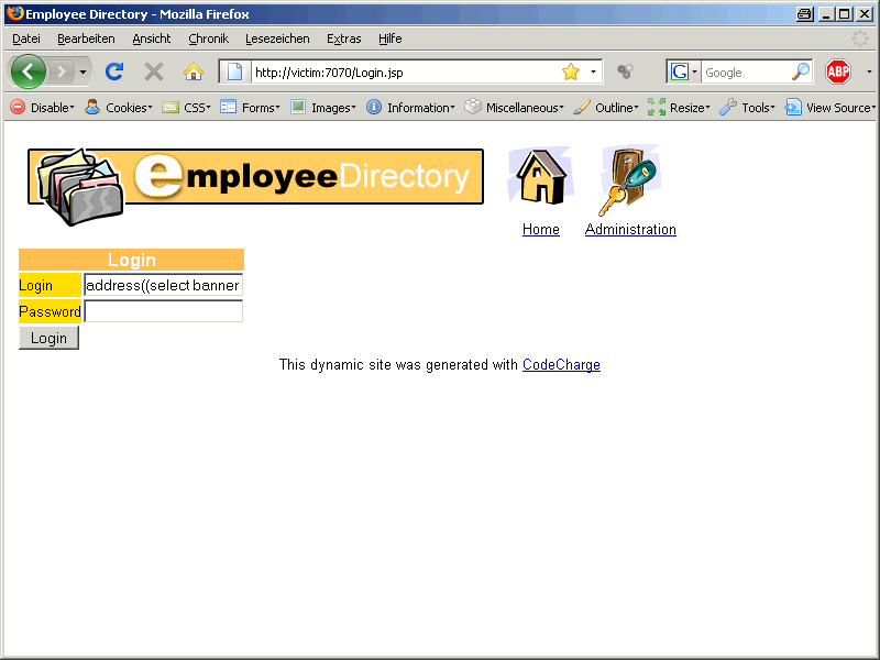 Oracle SQL Injection Picture 6