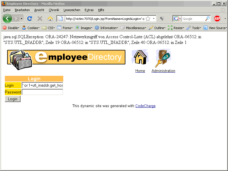Oracle SQL Injection Picture 8